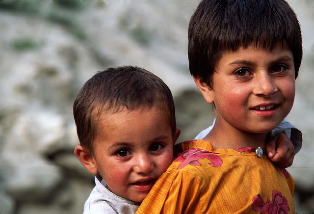 Two Pakistani Boys in the Hunza Valley