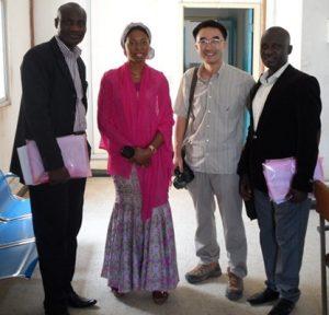 Dr Famiyesin (WHO-Ogun) / Dr Emefiene Onyinye (WHO-Enugu) / Dr. Adam Jaehyeok Lee / Mr Yashe Usman (FMoH) WHO/Nigeria