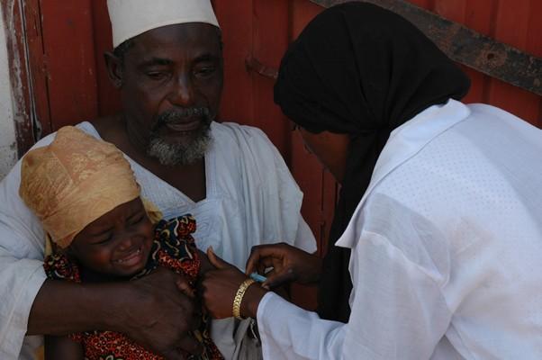 Nigerian child receives IPV