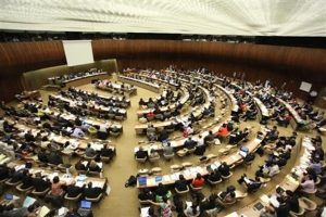 Delegates in one of the committee meetings held during the World Health Assembly 2011 WHO/Pierre Albouy