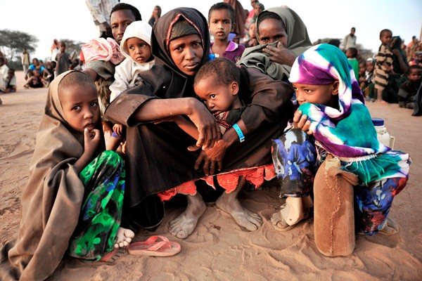 Newly arrived refugees at the Dadaab refugee camp, northern Kenya. Riccardo Gangale/UNICEF