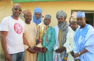 The Sumaila team celebrates winning the Governor's Award for best-performing Local Government Area. Tasiu Amadu/Sumaila LGA, Government of Kano State
