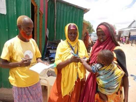 Polio vaccinators in Somalia WHO/H. Shukla