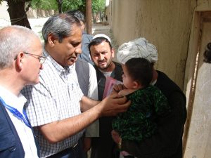 Dr Arshad Quddus has been working to eradicate polio since 1999, and spent two years in Afghanistan getting vaccines to the hardest to reach children. © WHO