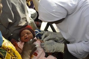 The polio programme is helping to build the capacity of the routine immunization system in Nigeria to protect children against other vaccine preventable diseases. WHO/L.Dore