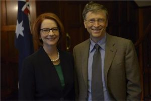 Bill Gates meets with Australia's Prime Minister, Julia Gillard Pacific Friends of the Global Fund