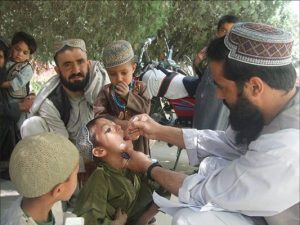 Many children are missing out on polio immunization due to ongoing military operations WHO/Afghanistan
