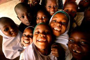 Children in Zamfara State, Northern Nigeria wait to be immunized with OPV WHO/Thomas Moran