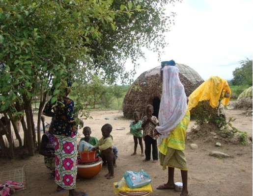 Nomadic Fulanis settlement