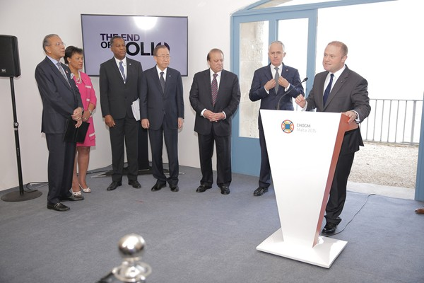 Commonwealth Leaders and UN Secretary General come together on the end of polio.