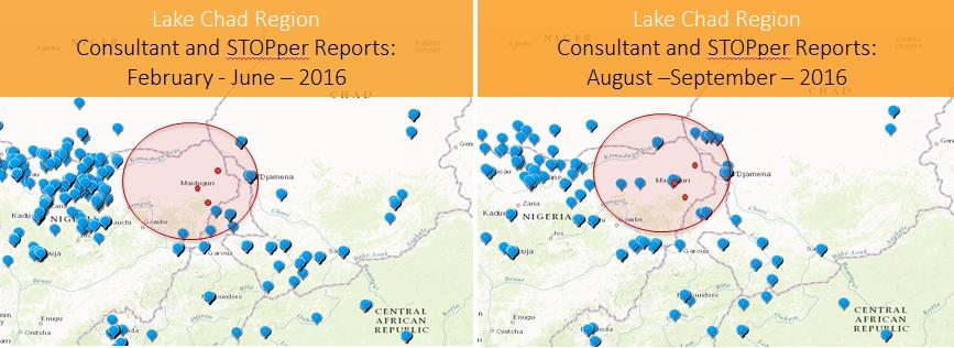 Following cases of polio being found in Nigeria in July 2016, Survey 123 was able to show the movement of international consultants into the affected areas to strengthen the response effort.