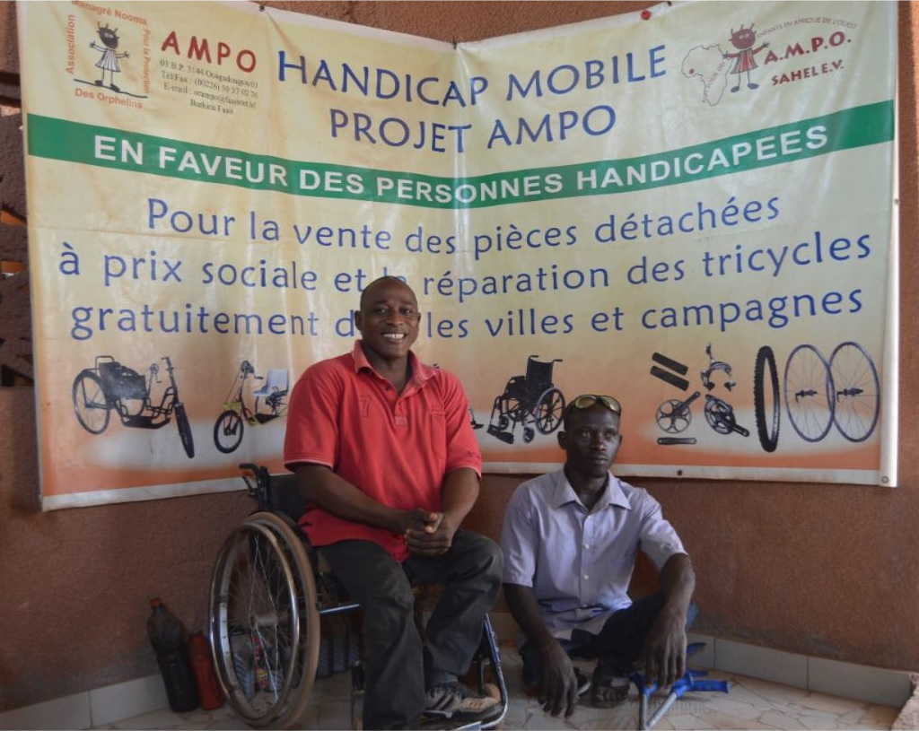 Edouard leads the workshop, creating custom wheelchairs for people affected by polio and other illnesses. ©Rotary
