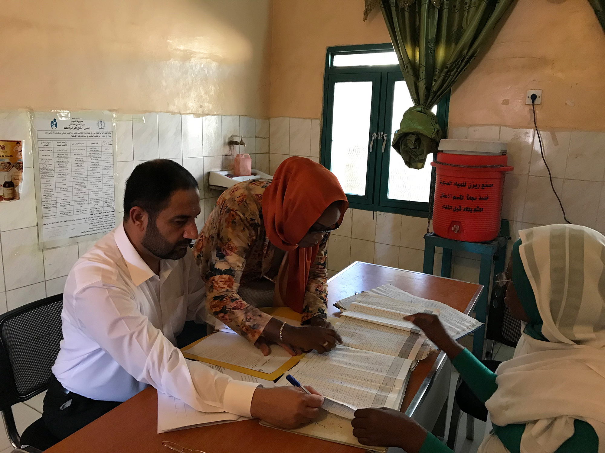 Analysing the quality of AFP surveillance reporting at the field level. ©WHO Sudan