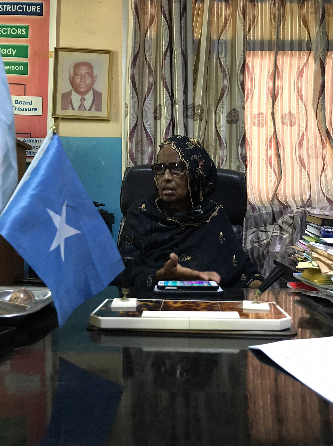 Mama Ayesha, a leader of eradication efforts in her district, considers what drives her work. © WHO Somalia