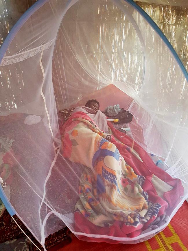 Pour la Dre Adele, éviter les piqûres d'insectes est l'une des plus grandes difficultés de son travail. © OMS / Tchad