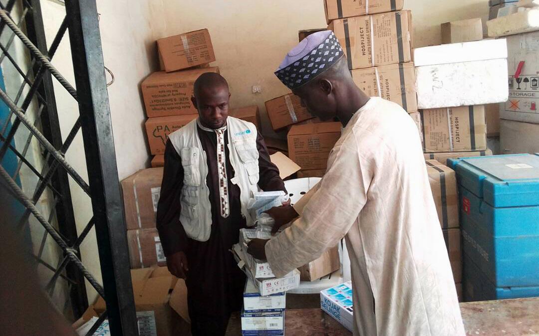 Auta works as a Vaccine Security and Logistics facilitator in Borno State, Nigeria. © UNICEF Nigeria