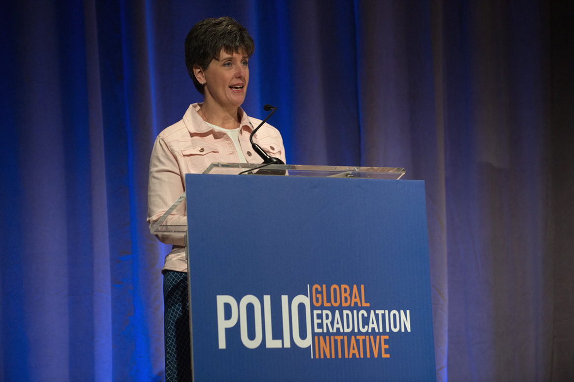 Minister Marie-Claude Bibeau announced Canada's generous commitment at the 2017 Rotary International Convention in Atlanta. This latest funding comes on top of significant and long term support from the Canadian people. © Global Polio Eradication Initiative