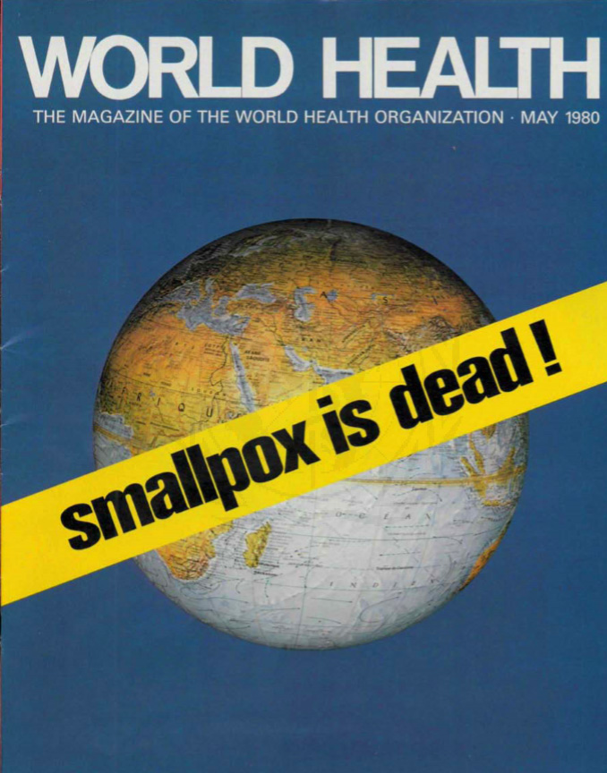 Cover of WHO's World Health Magazine, May 1980. © WHO