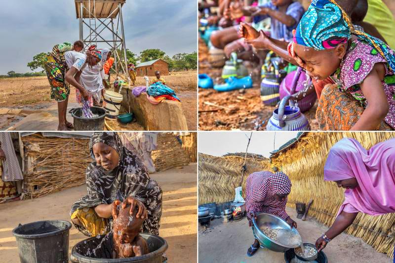 Water, Sanitation, and Hygiene (WASH) and polio eradication efforts go together. © Rotary International