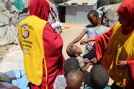 Polio immunization campaign in Hargeisa, Somaliland. ©WHO