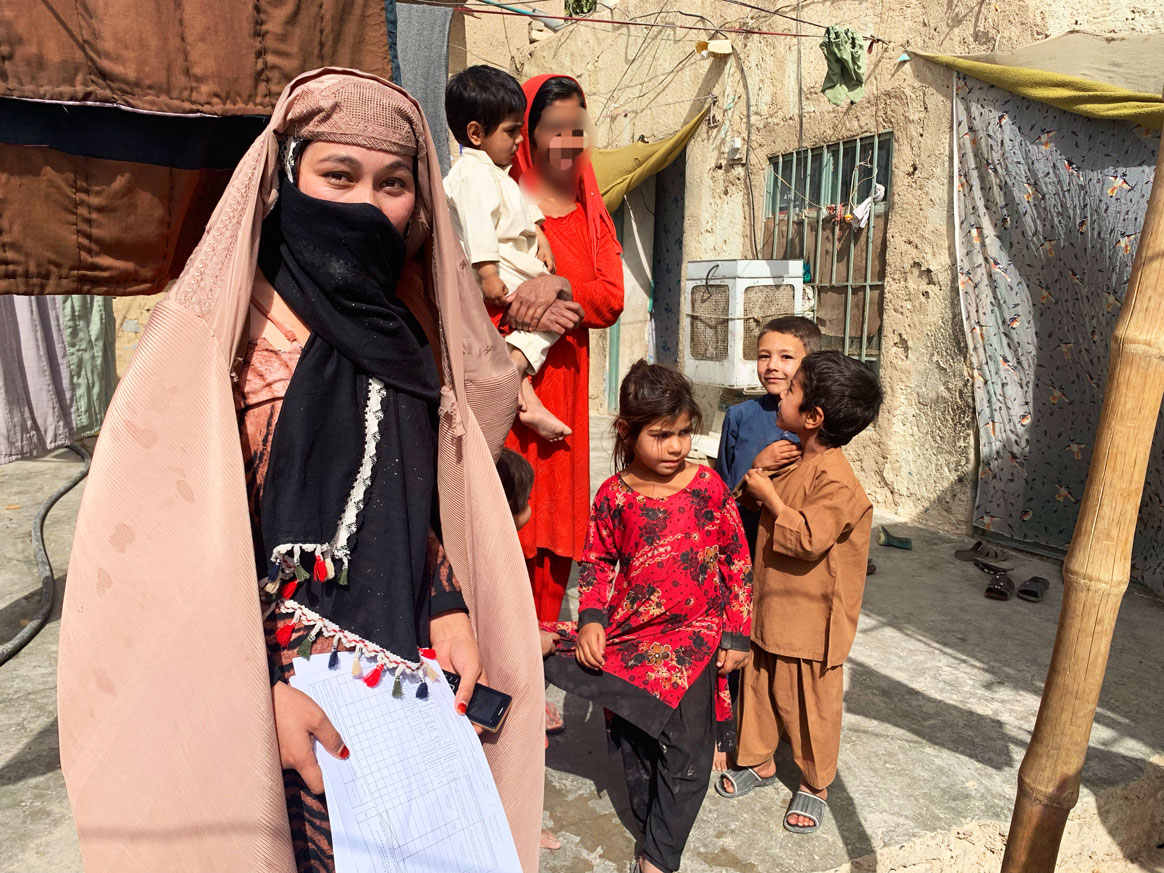 24-year-old Anis manages a team of 56 community outreach workers in Kandahar. ©UNICEF/Afghanistan